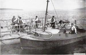 Färjan från Kojbacken Skeppare Fredrik Pettersson