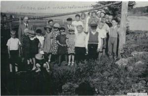 Söndagsskolan på utflykt Gistvallen Prästhushamn